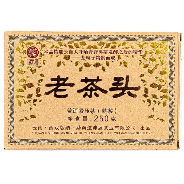 Шу пуэр Лао Ча Тоу Юньнань 2019 год, кирпич 250гр.